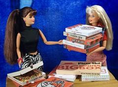 Dsc05103 (GreenWorldMiniatures) Tags: handmade 16 playscale miniature food pizza polymerclay greenworldminiatures barbie coca cola picnic inline skating midge