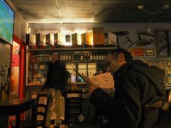 Udine 2016 - Italy (Enrico Zaccariello) Tags: olympus em10 udine friuli italy italia pub reading man streetphotography