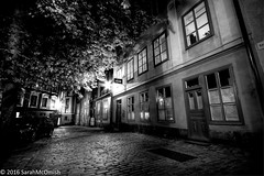 Wandering the streets of Gamla Stan #1 (sarahmcomish) Tags: blackandwhite monochrome cityscape urban old town stockholm street alley hdr light architecture