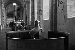 L1021840 (Sigfrid Lundberg) Tags: streetphotography lund cathedral candle candleholder photographer children sweden skne lundcathedral mobilephone cellphone woman mobilephonesubscribers balloon horseballoon fs160918 stamning fotosondag aposummicronm aposummicronm50mmasph 50mmf20asph
