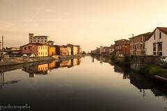 Loreo (ro) (paolotrapella) Tags: loreo italia paesi borghi riflesso colori acqua water color reflection