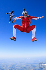 FreeFly head up jump (mathieufournel) Tags: skydiving sky flying jumping blueskies strobist action sports