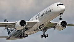 Brand New Airbus (adam sowa) Tags: a350 display airbus a350900xwb ila berlin airshow passenger aviation airfield airport quatar fwwcf schönefeld sxf