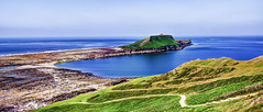 The Causeway (Solent Poster) Tags: green june 2016 pentax kx 1685mm gower peninsular seascape landscape south wales worms head rhossili