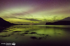 Aurora, Loch Pooltiel, Isle of Skye (Andy Stables) Tags: aurora borealis northern lights loch pooltiel milovaig meanish glendale skye scotland canon 70d