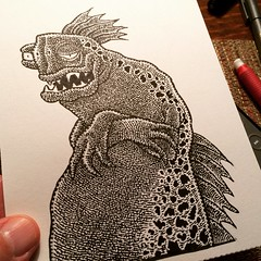From the lagoon (Don Moyer) Tags: creature ink drawing brushpen notebook moyer donmoyer monster audition