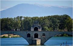 Pont D'Avignon and Mont Ventoux 28 miles away (Pitheadgear) Tags: southfrance france avignon tourism pont davignon pontdavignon