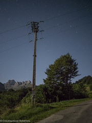 LREd-1150092 (cospic7) Tags: pyrenees france pyrenean lescun mountain mountains summer night moonlight starlight sky stars nightsky rural ruralinfrastructure power powerline powerlines industry electricity cables cable pylon pylons