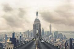 skyroad () Tags: cities highway road sky car cloud manuipuation photoshop hongkong future newyork newyorkcity empirestatebuilding usa state benchmark skytower tower imagination imagine