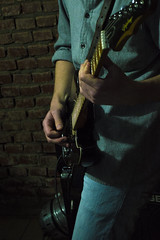 Music (Leandro Budzinski) Tags: d3200 nikon kit lens music musica ensaio frank salazar proud band guitar guitarra baixo bass keyboard piano jazz blues