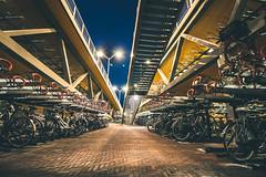 Multi-storey bicycle parking place (WillemijnB) Tags: bicycles parking parkinglot multistorey parkeerflat parkeergarage garage fietsflat fietsenstalling building gebouw architecture buildingstructure vlos