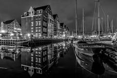 Marina Reflections (Explored 19-9-2016) (mcalma68) Tags: monochrome blackwhite marina hoorn reflections waterfront