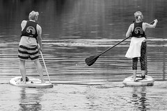 untitled (robwiddowson) Tags: paddleboard thames river water paddle board blackandwhite photo photograph photography image picture robertwiddowson
