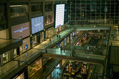 shops and shoppers (Roger Foo) Tags: singapore marinabaysands shoppingcomplex windows shoppers shops brands