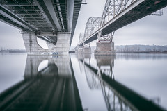 New Darnytskyi bridge | Kiev, Ukraine 2015 (philippdase) Tags: kiev kyiv ukraine newdarnytskyibridge longexposure winter city reflection philippdase nikond7100 sigma1835mm18 formatthitech fineart firecrest nd16