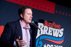 BuzzFeed Editor-in-Chief Ben Smith introduces the panel.