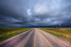 Storm approaching near Route 66 - Clarendon - Texas - USA (R.Smrekar-CH) Tags: clouds landscape road usa route66 texas perspective thunderstorm d750 smrekar 000100