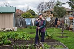Maribyrnong (Westographer) Tags: maribyrnong melbourne australia westernsuburbs suburbia garden vegiepatch portrait gardener clothesline washing winter backyard