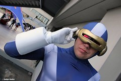Cyclops (Adam Antium) Tags: cyclops adam antium scott summers xmen x men marvel comic comics book books superhero super hero mutant dragon con convention 2016 costume cosplay tight tights spandex lycra visor photo shoot