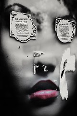 One More Kiss (Andy J Newman) Tags: art streetphotography street colourkey colourised colourisation blackandwhite poster scottkelby scott scottkelbyphotowalk nikon d500 kiss