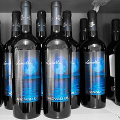 Blue Moon (Luca Quadrio) Tags: food gastronomy blue italian lombardy travel lunablu restaurant cooking artofcooking italy redwine wine selectedcolour bluemoon bottles cassolnovo lombardia italia it