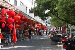 Red lanterns near Yuyuan gardens in Shanghai, China (mbphillips) Tags: china  shanghai   huangpu  yugarden yuyuangarden   mbphillips sigma1835mmf18dchsm canon450d asia