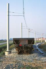 Once upon a time - The Netherlands - IJsselstein (railasia) Tags: holland provinceutrecht ijsselstein achterveld sun utilityvehicle ballastcarrier infra endoftheline eighties