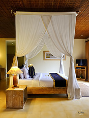 Bed in the villa (A. Wee) Tags: sankara resort hotel  ubud bali  indonesia  bedroom