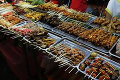 Street Food in Yangon (virtualwayfarer) Tags: asia southeastasia myanmar burma streetfood food cuisine eat eating eats skewers shish delicious culinary tourism travel tour touring yangon yangoncity traveling travelphotography thingstosee visittothailand canon canon6d travelphotographer travelinspiration lifestyleinspiration