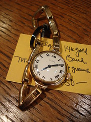 "ELGIN LADIES WATCH IN 14K GOLD WITH 14K GOLD BAND. • <a style=""font-size:0.8em;"" href=""http://www.flickr.com/photos/51721355@N02/30171887982/"" target=""_blank"">View on Flickr</a>"