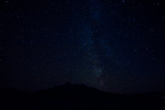 The Sky, on Skye (muddybootsuk) Tags: cuillin skye scotland isleofskye muddybootsuk night stars milkyway galaxy astrophotography sligachan greatbritain unitedkingdom innerhebrides mountains silhouette