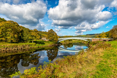 Bigsweir Bridge (technodean2000) Tags: bigsweir bridge crossing river wye clouds reflection tintern wales uk nikon d610 lightroom trees water grass outdoor cloud sky landscape mountain field serene hill plant rock formation