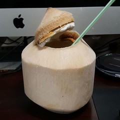 Nothing like a nice young coconut after a workout.