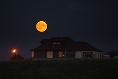 Blood Moon (Ian McClure) Tags: blood hunters sanguine moon pentax prestwick ayrshire scotland