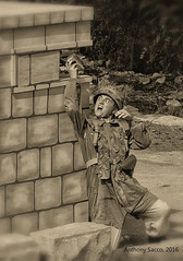German paratrooper throwing a grenade into a British Bren gun post (Ant Sacco) Tags: reenactment ww2