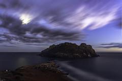 Isla del Fraile (Miguel ngel Gimnez-Murcianico) Tags: azul aguilas canon 6d 17 40 nocturnas night shot murcia marinas sea nubes clouds velocidad