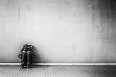 Alone (Norbert Eder) Tags: streetphotography lonely sad street alone sadness blackandwhite black monochrome boy white
