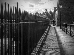 Railings (Andrew Gustar) Tags: 116picturesin2016 railings shadows bristol clifton suspension bridge avon brunel
