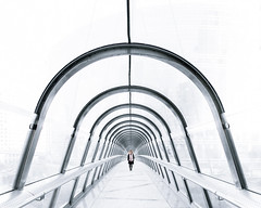 I've got that tunnel vision for you. (Philipp Gtze) Tags: paris ladefense modern architecture people square white blue light bright