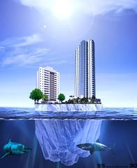 iceberg (ssdesigner3d) Tags: iceberg cidade predio agua oceano frio gelo photomanipulao photograpy
