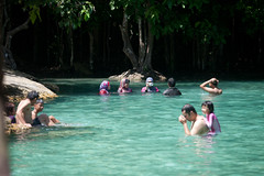 Emerald Pool (king.arm) Tags: trip travel sea vacation holiday elephant beach water thailand island boat amazing interesting crystal getaway speedboat tuktuk siam longtail krabi aonang