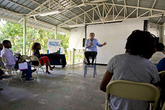 Visit of Lambert Wilson (United Nations Stabilization Mission In Haiti) Tags: cinema art matrix haiti un unitednations catwoman marsupilami portauprince ayiti minustah institutfrancais lambertwilson