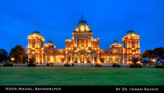 Noor Mahal (i.rashid007) Tags: pakistan beautiful architecture evening bluehour punjab 1872 bahawalpur noormahal noorpalace imranrashid