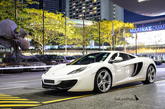MP4 (FreeLunchPhotos) Tags: light white night marina photography singapore mclaren mandarin mp4 555 mp412c