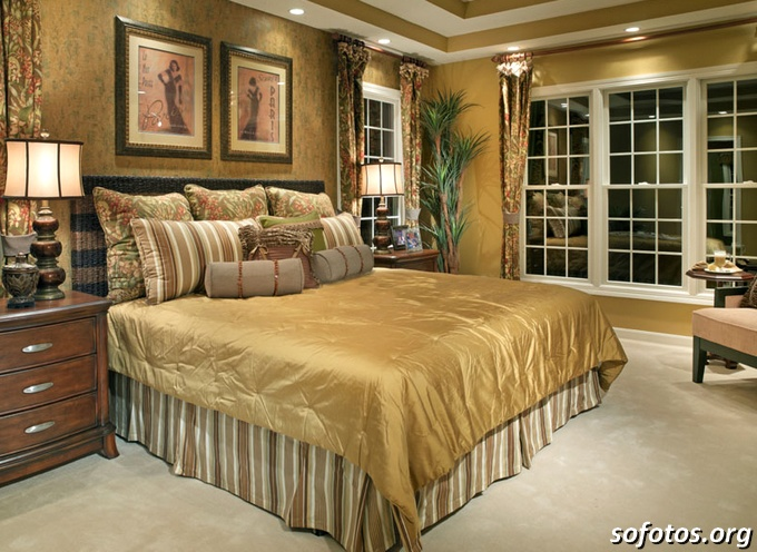 quarto de casal de luxo