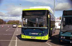 MBR03 Metrocentre Bus Rally - Arriva Gas Bus (HairyHippy) Tags: uk england film analog 35mm silver pentax unitedkingdom superia traditional gateshead fujifilm routemaster analogue dennis daimler chemical leyland asa400 bromide mesuper xtra tyneandwear metrocentre fujicolor atkinson aec busrally halide preservedbuses c41developer fujihunt