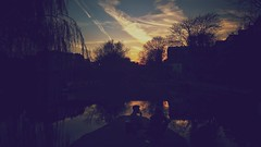 Sunset on the canal