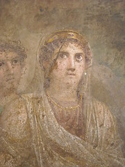 """Hera"" (Detail) - ""Hera is pushed towards Zeus by Iris"" - from House of Tragic Poet at Pompeii - Naples, Archaeological Museum (* Karl *) Tags: italy pompeii napoli naples pompei archaeologicalmuseum icapture napoliarcheologico"