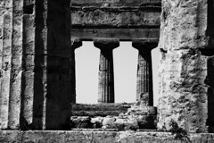 500 BC , Greek Temple in Paestum, Italy (dirk huijssoon) Tags: greek grecia paestum poseidon neptune