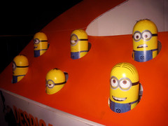 Despicable Me 2 Whack A Mole Minion Game Standee  0205 (Brechtbug) Tags: street new york city nyc 2 two game me yellow computer movie poster theater with theatre cartoon billboard lobby animation critters amc mole 34th whack gru sequel despicable minion standee henchmen standees 2013 a 05202013